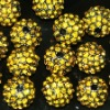 10mm Jewelry accessories shamballa crystal pave beads,rhinestone alloy beads