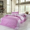 Polyester Bedsheet Sets Printed Polyster Fabrics / flower printing bedsheet fabrics