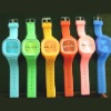 Japan movt quartz brand jelly wrist watch
