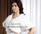 UJ11185 Ivory fur shawl with simple&fashionable style,2012 Luxuraint wrap, reversible wrap, Hotsale