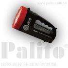 Portable marine searchlight with radio