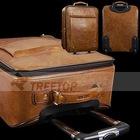 genuine leather trolley bag,travel trolley bag, genuine leather luggage bag