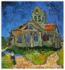 Rep Handmade Oil Painting Van Gogh The Church at Auvers