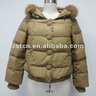 2012 Ladies' Outdoor Lovely Short Down Jacket With Fox Fur Collar