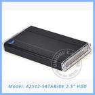 A2512 2.5 sata hard drive, SATA+IDE to USB2.0, aluminium case