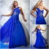 JE0175 Appliqued One-shoulder Roma Royal Blue Elegant Latest Formal Evening Dresses