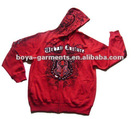 Men's fleece hoody coat