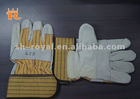 Patched Palm Leather Fitter Gloves With Rubberized Cuff