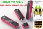 Hot selling Wireless LAN Smart 1080P HD Internet TV Stick HDMI 1.4 +WiFi