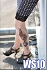 wholesale fashion sexy printed leg temporary tattoos sock (have in stock ,can paypal)