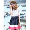 turn-down collar new fashion ladies dress 1572#