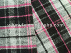 pink twill cut velet check woolen overcoating fabric for women clothes