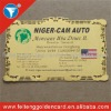 standard approval custom metal business card