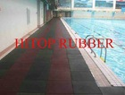 swimming pool rubber tiles