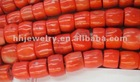 red coral drum beads