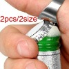 Hot Sale Stainless Steel Finger Ring Beer Bottle Beverage Opener 2Pcs Set