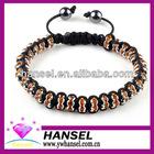 handmade crystal stone macrame bracelet beads