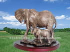 lovely copper elephant statue & sculpture