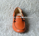 2012 women's fashion genuine leather flat shoe