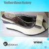 wedges heels slippers 2012 with bow