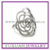 wholesale women's fashion stainless steel flower ring