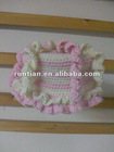 Very Beautiful Infant Crocheted Cotton Spiral Beanies