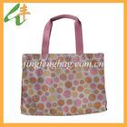 Customized cute rabbit reusable polyester folding shopping bag