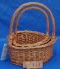 3pcs wicker gift basket
