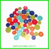 promotional decorative crafts DIY round plastic buttons