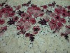 Rose jacquard lace with print