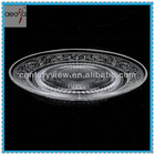 food safe tableware clear machine made Chinese glass dinnerware plate sets