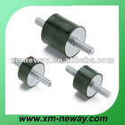 Molded rubber damper for industrial parts