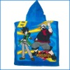 cartoon design bath towel with cap for children (100% cotton)