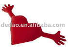red heart shape throw pillow