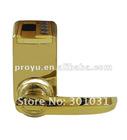 Adel Gold 3398 Fingerprint lock password mechanical key Pin Code Key Lock Reversible Handle