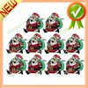 10 x LED Flashing Santa Claus Brooch