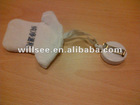 PPI-1002,Mini cloth key chains/small hanging chains/small promotion gift/pulley plastic