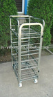 European steel milk trolley