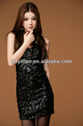 Bling Glitter Focus V-Neck Bodycon Clubwear Party Prom Cocktail Homecoming Dress