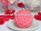 Pink Rose Ball Wedding Candle