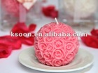 Pink Rose Ball Wedding Candle