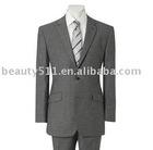 Men's Plain Grey Two Button Suit mr-7