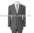 Men's Plain Grey Two Button Suit mr-7