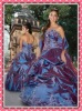 Sizes Available Strapless Prom Gown Ball-Gown Applique Pleated Chapel Train Quinceanera Princess Dresses