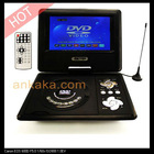 Portable DVD Player with 7 inch LCD Swivel Screen, Analog TV, Copy and FM function