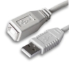 A Male to USB B Female USB 2.0 Cable