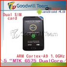 "New arrivals - ARM Cortex-A9 512RAM 4G ROM 1.0 Ghz 5"" inch MTK 6575 tablet phone with GPS"