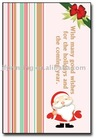 Attractive pretty christmas handmade paper greeting cards designs with santa claus