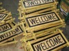 bamboo welcome door sign furniture
