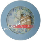 leather round wall clock